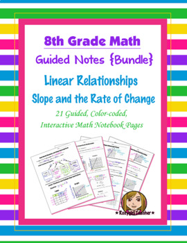 Math 8 Guided Interactive Math Notebook (Bundle): Linear Relationships