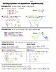 Math 8 Guided Interactive Math Notebook (Bundle): Systems of Equations
