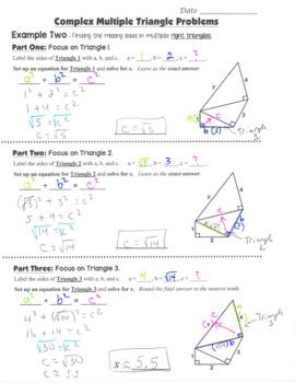 Math 8 Guided Interactive Math Notebook (Bundle): The Pythagorean Theorem