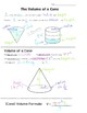 Math 8 Guided Interactive Math Notebook (Bundle): Volume of Solids