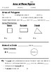 Math 8 Guided Interactive Math Notebook Page: Area of Plane Figures