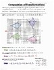 Math 8 Guided Interactive Math Notebook Page: Composition of Transformations