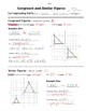 Math 8 Guided Interactive Math Notebook Page: Congruent and Similar Polygons