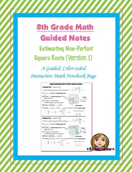 Math 8 Guided Interactive Math Notebook Page: Estimating S