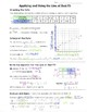 Math 8 Guided Interactive Math Notebook Page: Line of Best Fit in Situations