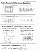 Math 8 Guided Interactive Math Notebook Page: Linear Equations from a Table