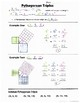 Math 8 Guided Interactive Math Notebook Page: Pythagorean Triples