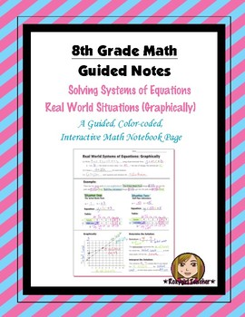 Math 8 Guided Interactive Math Notebook Page: Systems of E