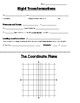 Math 8 Guided Interactive Math Notebook Page: Transformations (Introduction)