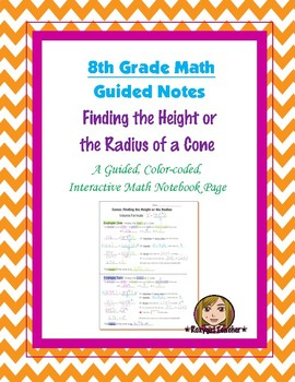 Math 8 Guided Interactive Math Notebook Page: Finding the