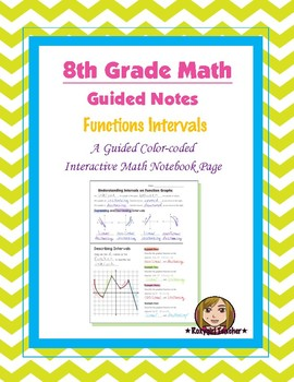 Math 8 Guided Interactive Math Notebook Pages: Function Intervals