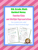 Math 8 Guided Interactive Math Notebook Pages: Multiple Representations