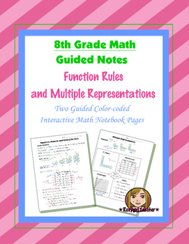 Math 8 Guided Interactive Math Notebook Pages: Multiple Re