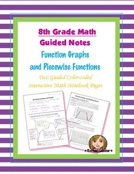 Math 8 Guided Interactive Math Notebook Pages: Piecewise Functions