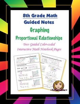 Math 8 Guided Interactive Math Notebook Pages: Proportional Relationships (1)