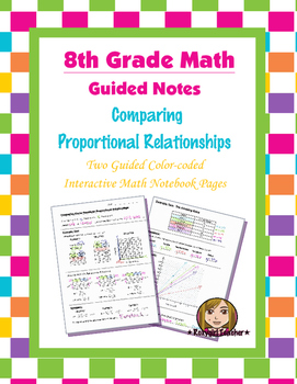 Math 8 Guided Interactive Math Notebook Pages: Proportional Relationships (3)