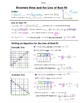 Math 8 Guided Interactive Math Notebook Page: Line of Best Fit Introduction