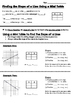 Math 8 Guided Interactive Math Notebook Page: Slope Using