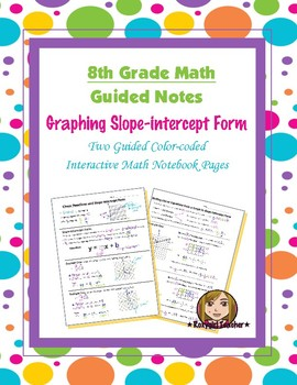 Math 8 Guided Interactive Math Notebook Pages: Slope-intercept Form (1)