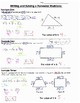 Math 8 Guided Interactive Math Notebook Pages: Solving Multi-step Equations