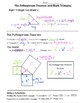 Math 8 Guided Interactive Math Notebook Pages: The Pythagorean Theorem - Intro