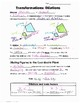 Math 8 Guided Interactive Math Notebook Pages: Transformations: Dilations