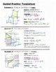 Math 8 Guided Interactive Math Notebook Pages: Transformations: Translations