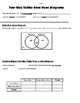 Math 8 Guided Interactive Math Notebook Page: Two-way Tables/Venn Diagrams