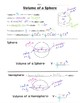 Math 8 Guided Interactive Math Notebook Pages: Volume of a Sphere