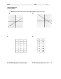 Math 8 Pre-algebra Linear Equations Assessment