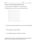 Math 8 Pre-algebra Proportions and slope assessment