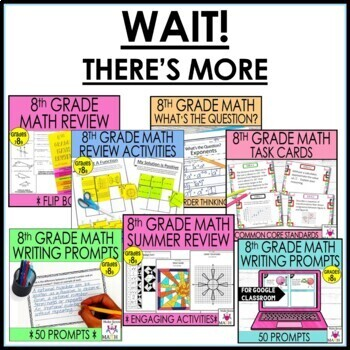 8th Grade Math Resources and Activities Bundle