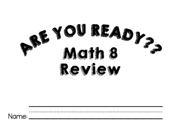 Math 8 End of Year Review