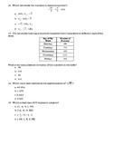Math 8 STAAR Quiz (8.2A, 8.2B, 8.2C, 8.2D, 8.11B)