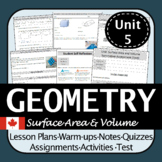 Math 8 Surface Area & Volume Unit | Differentiated & Engaging | B.C. Curriculum