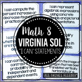 "2016 Math 8 Virginia SOL: ""I Can"" Statements"