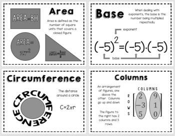 Math 8 Word Wall