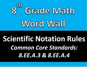 Math 8 Word Wall: Scientific Notation Rules