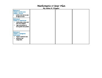 Math 8 Year Plan