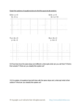 Math 8th Grade: Solving Pairs of Linear Equations 8.EE.C.8