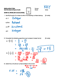 Math 9 BUNDLED COURSE QUIZZES with FULL SOLUTIONS-SPECIAL PRICE