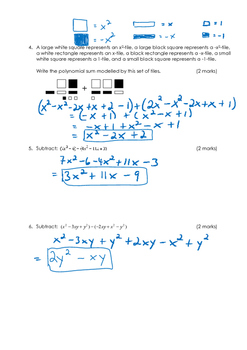 Math 9 Quiz: Adding & Subtracting Polynomials Quiz with FULL SOLUTIONS