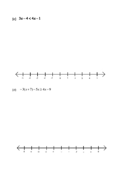 Math 9 Quiz: Solving Linear Inequalities with FULL SOLUTIONS