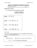Math 9 - Section 1.4 - Multiplication/Division of Fractions