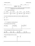 Math 9 - Section 1 - Test
