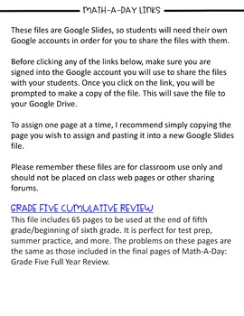 Math-A-Day: 5th Grade Summer Challenge