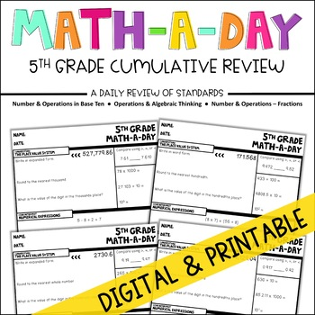 Math-A-Day: 5th Grade Summer Challenge