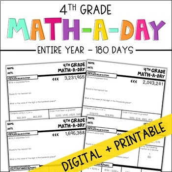 Math-A-Day: A Daily Review of 4th Grade Standards