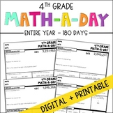 4th Grade Daily Math Spiral Review - Full Year