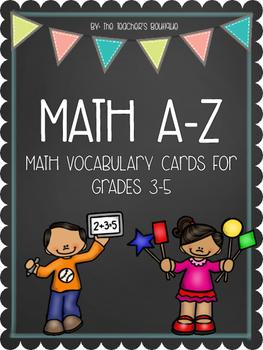 Math A-Z Vocabulary